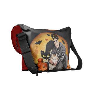 Halloween - Siberian Husky - Nala Messenger Bags
