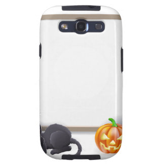 Halloween Sign with Mummy and Frankenstein Galaxy SIII Cover