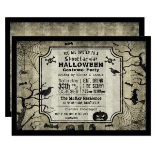 Halloween Silhouette Costume Party Invitation
