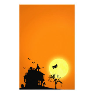 Halloween Silhouette Landscape - Stationery
