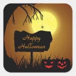 Halloween Silhouette Sign - Sticker