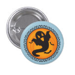 Halloween Silhouettes Ghost Badge 1 Inch Round Button