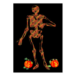 Halloween Skeleton and Pumpkins Large Business Cards (Pack Of 100)