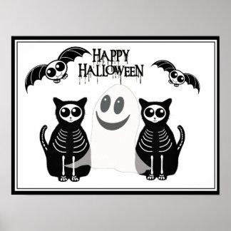 Halloween Skeleton Animals Gang Poster