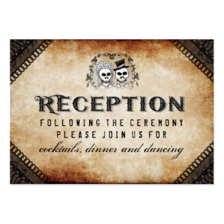 Halloween Skeleton Brown Gothic Matching Reception Large Business Card