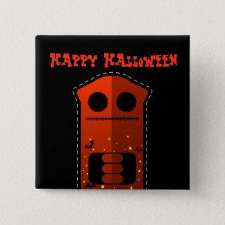 Halloween Skeleton Cat Square Button