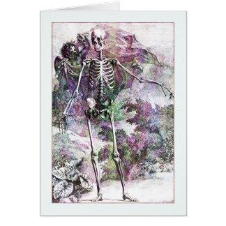 Halloween Skeleton & Cherub Greeting Cards
