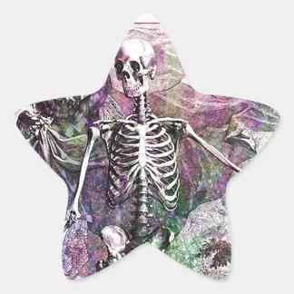 Halloween Skeleton & Cherub Star Sticker