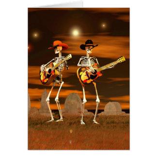 Halloween Skeleton Concert Card