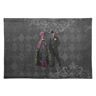Halloween Skeleton Couple Placemat