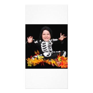 halloween skeleton cutie! photo greeting card
