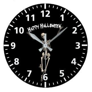 Halloween Skeleton Large Clock