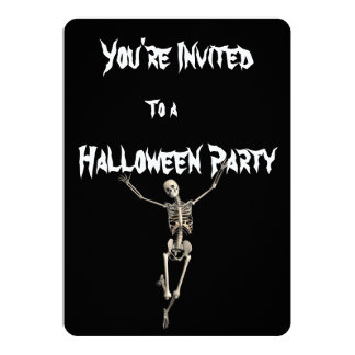 Halloween Skeleton Party Invitation