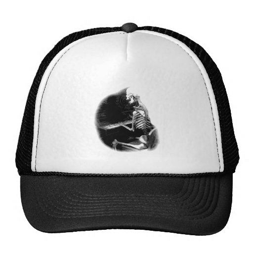 Halloween Skeleton Playing Spooky Piano! Trucker Hat