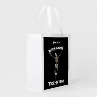 Halloween Skeleton Reusable Grocery Bag