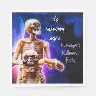 Halloween Skeleton Scary Night Rider Party Napkin Disposable Napkins