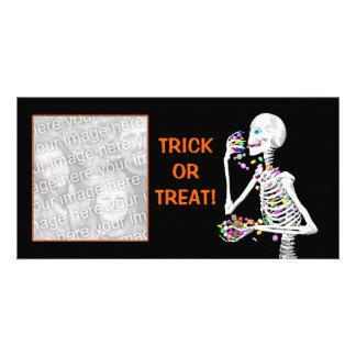 Halloween Skeleton Treats Card