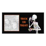 Halloween Skeleton Treats Photo Card