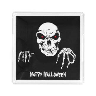 Halloween Skull Acrylic Tray