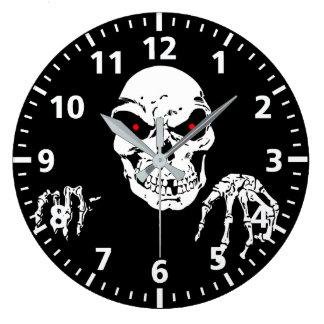 Halloween Skull Clock