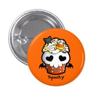 Halloween Skull Cupcake 1 Inch Round Button