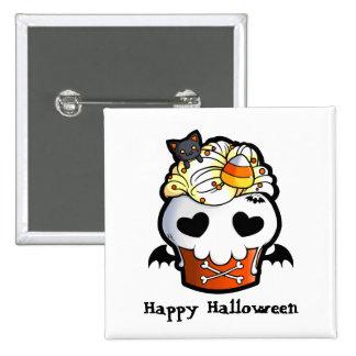 Halloween Skull Cupcake Pins