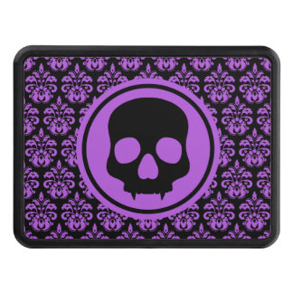 Halloween skull design hitch covers