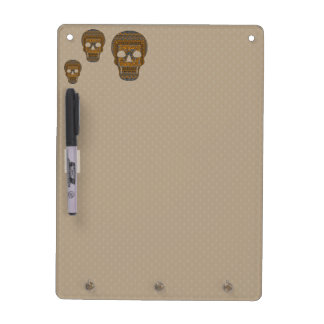 Halloween Skull Dry Erase Board