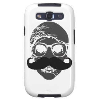Halloween skull mustache samsung galaxy SIII cover