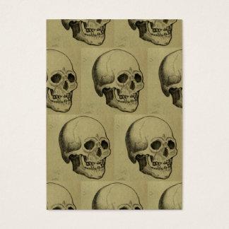 Halloween Skull Pattern Business Card