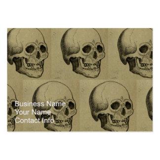 Halloween Skull Pattern Business Card Templates