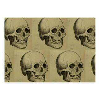 Halloween Skull Pattern Large Business Card