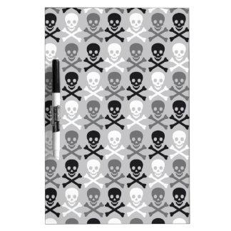 Halloween Skull pattern with crossbones Dry Erase Board