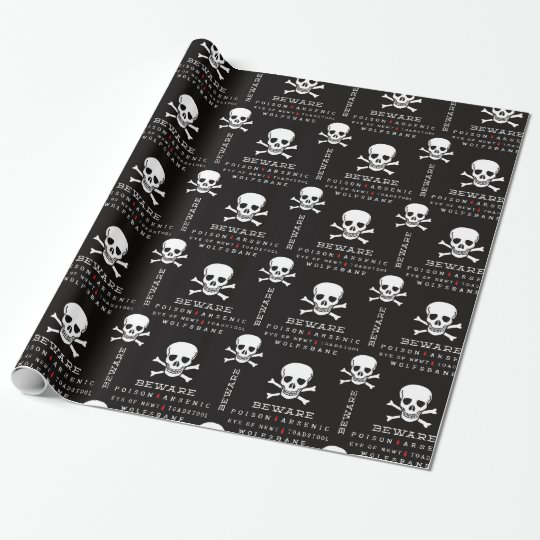 Halloween Skull pattern wrapping paper