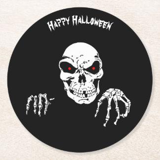 Halloween Skull Round Paper Coaster