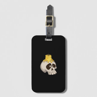 halloween - skull with candle bag tag