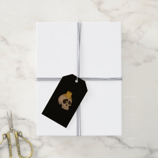 halloween - skull with candle pack of gift tags