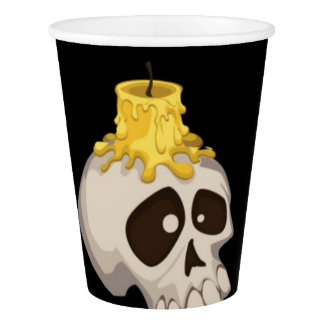 halloween - skull with candle paper cup