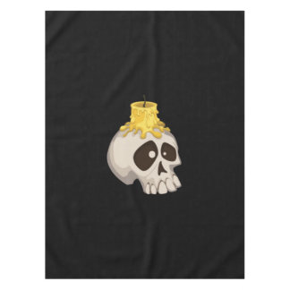 halloween - skull with candle tablecloth