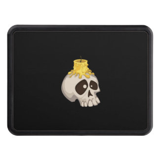 halloween - skull with candle tow hitch covers