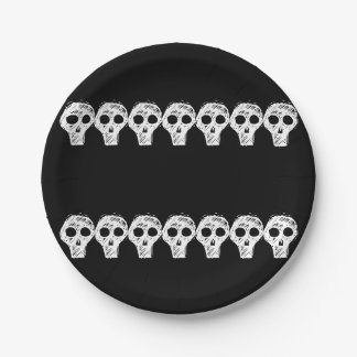 Halloween Skulls 4Lonnie Paper Plate