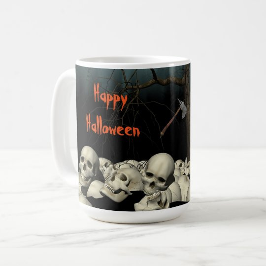 Halloween Skulls and Quote Coffee Mug
