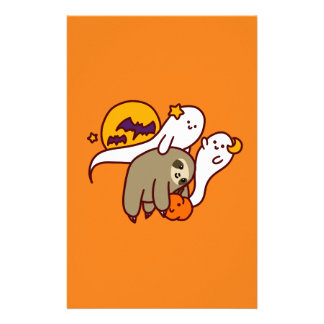 Halloween Sloth Customized Stationery