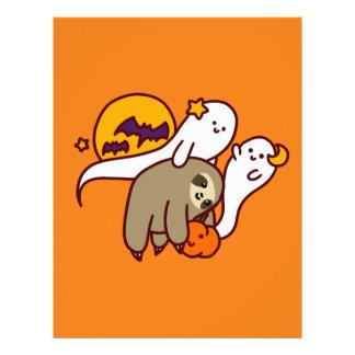 Halloween Sloth Letterhead
