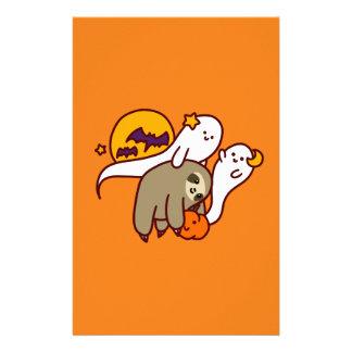 Halloween Sloth Stationery