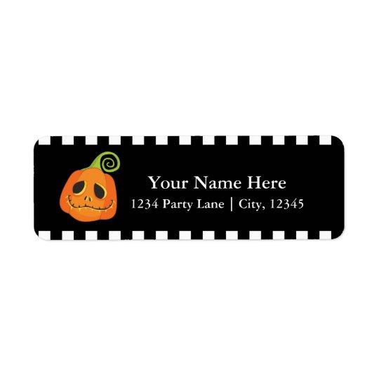 Halloween Smiley Pumpkin Cute Whimsical Invitation