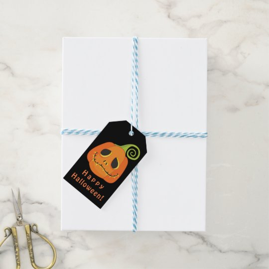 Halloween Smiley Pumpkin Whimsical Party Favour Gift Tags