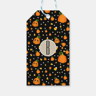 Halloween Smiley Pumpkins Whimsical Party Favor Gift Tags