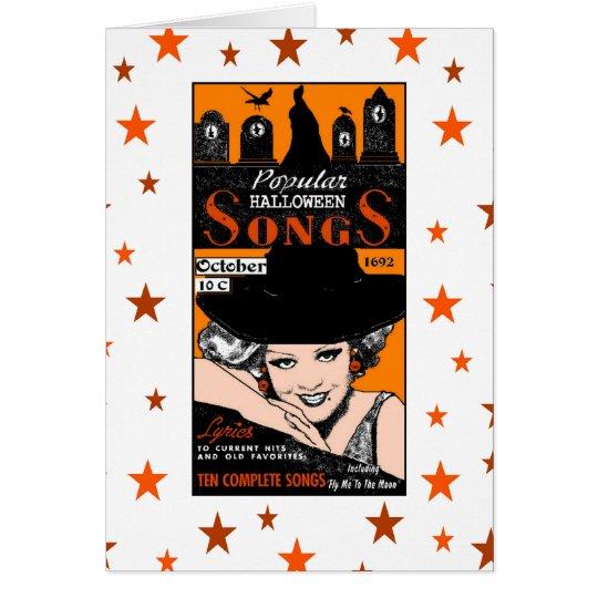 Halloween Songstress Greeting Card
