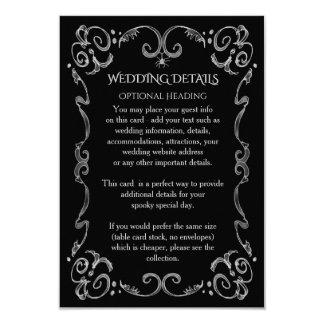 Halloween Spider Gothic Scroll Wedding Details Card